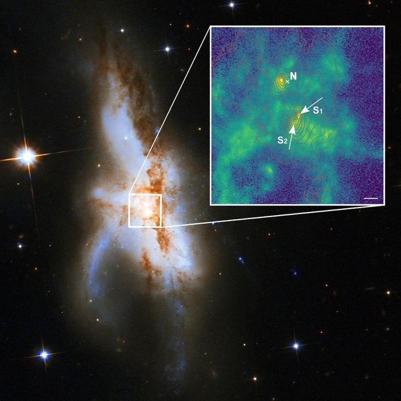 Τρεις υπερμεγέθεις μαύρες τρύπες βρέθηκαν κρυμμένες σε έναν γαλαξία
