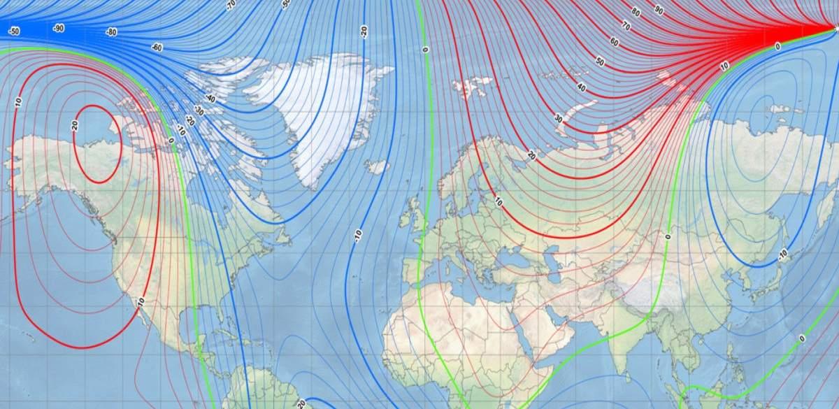 Ο Μαγνητικός Βόρειος Πόλος της Γης συνεχίζει να μετακινείται, διασχίζοντας τον πρώτο μεσημβρινό.