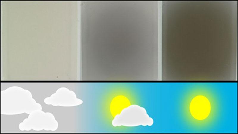 Η «αναπνοή» εξηγεί την αντιστρέψιμη αλλαγή στη σκουρότητα που προκαλείται από το φως σε ορισμένα υλικά